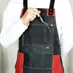 Waxed Canvas & Genuine Leather ''Chuck'' Apron RR - 1